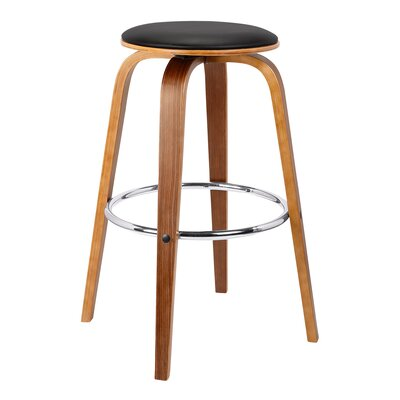Nataly 31 Swivel Bar Stool Upholstery: Black
