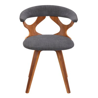 Braelynn Upholstered Dining Chair Upholstery Color: Charcoal