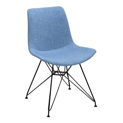 Belmonte Upholstered Dining Chair Upholstery Color: Farmer Blue