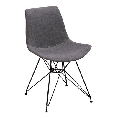 Belmonte Upholstered Dining Chair Upholstery Color: Charcoal