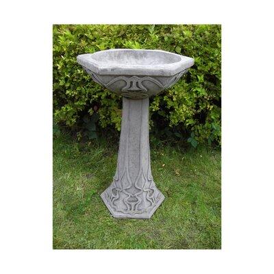 Vogelbad Art Deco | Garten > Tiermöbel | Grau | Stein | Garden Ornaments by Onefold