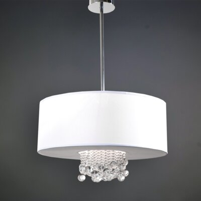 Rachal 6-Light LED Drum Pendant