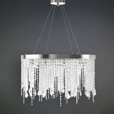 Delphine 10-Light LED Crystal Pendant