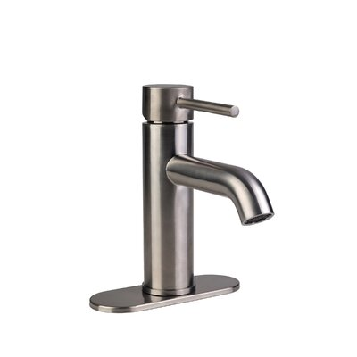 European Single Post Centerset Single Handle Bathroom Faucet Finish: Brushed Nickel