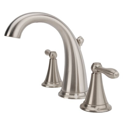 Montbeliard Widespread Lever Handle Bathroom Faucet Finish: Brushed Nickel