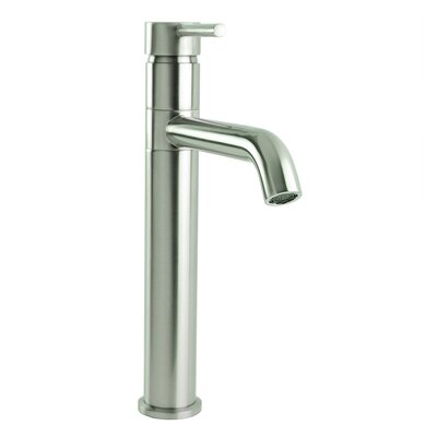 European Swivel Spout Single Hole Lever Handle Bathroom Faucet Finish: Brushed Nickel