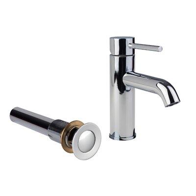 European Single Hole Lever Handle Bathroom Faucet with Drain Assembly Finish: Chrome