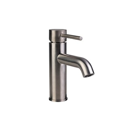 European Single Hole Lever Handle Bathroom Faucet Finish: Brushed Nickel