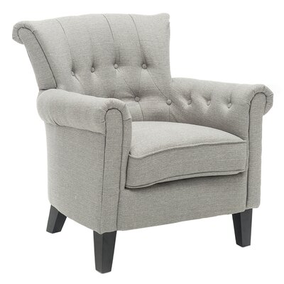 Blazek Tufted Flared Armchair Upholstery: Gray