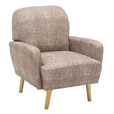 Whitten Rounded Cushioning Armchair Upholstery: Gray