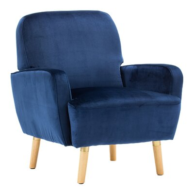 Whitten Rounded Cushioning Armchair Upholstery: Navy