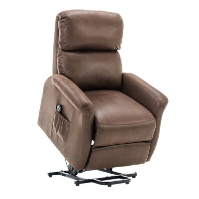 Winbush Classic Lift Glider Power Recliner Soft and Warm Fabric with Remote Control for Gentle Motor