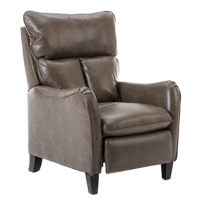 Kalirai Roll Arm Pushback Glider Manual Recliner Upholstery: Taupe