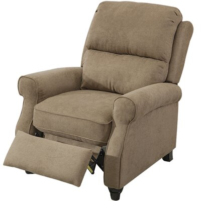 Ferebee Pushback Roll Arm and Easy to Push Mechanism Manual Recliner Upholstery: Light Brown