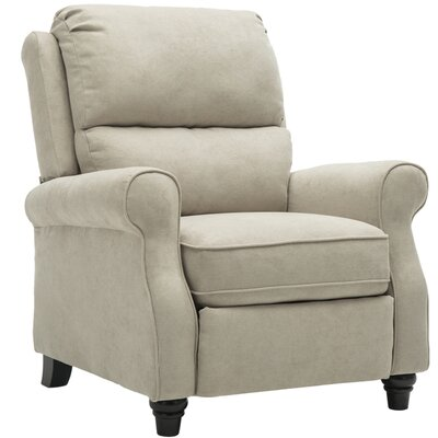 Ferebee Pushback Roll Arm and Easy to Push Mechanism Manual Recliner Upholstery: Buff