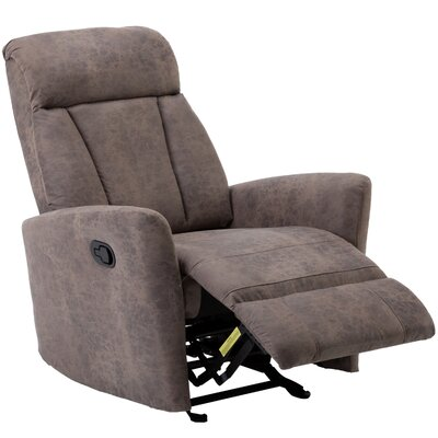 Dorch Contemporary Glider Manual Recliner with Super Comfy Gliding Track Upholstery: Mocha