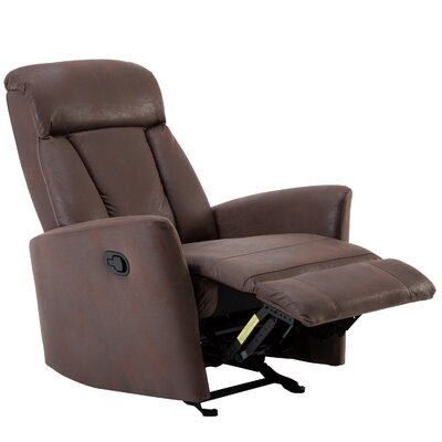 Dorch Contemporary Glider Manual Recliner with Super Comfy Gliding Track Upholstery: Chocolate