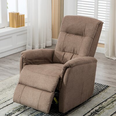 Mokade Glider Manual Recliner with Super Comfy Gliding Track Overstuffed Backrest Upholstery: Smoke