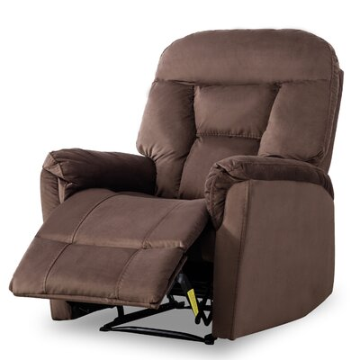 Gaikwad Modern Durable Frame Manual Recliner Upholstery: Chocolate