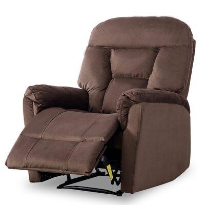 Gaikwad Modern Durable Frame Glider Manual Recliner Upholstery: Chocolate