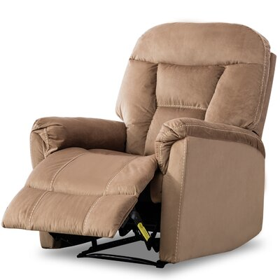 Gaikwad Modern Durable Frame Manual Recliner Upholstery: Mocha
