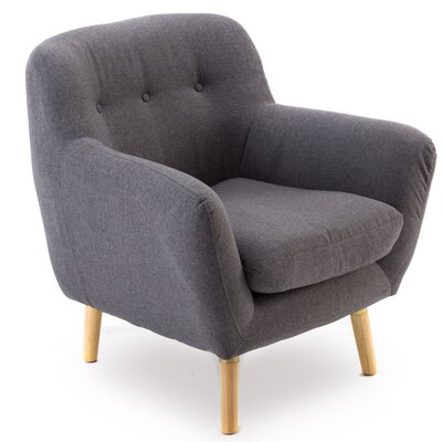 Sowder Well Construction Frame Soft Fabric Armchair to Touch Upholstery: Smoke Gray