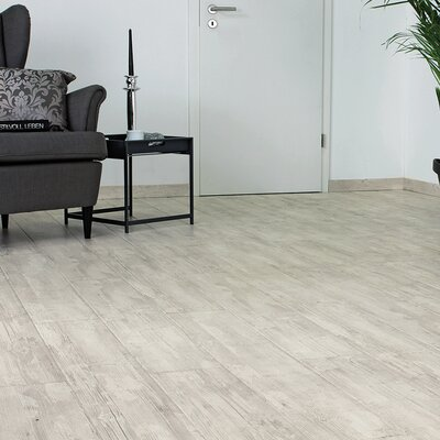 7 x 47 x 11mm Laminate Flooring in White