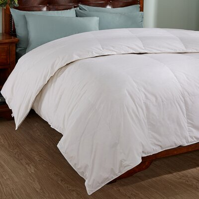 All Season Down Comforter with Piped Edges Size: King