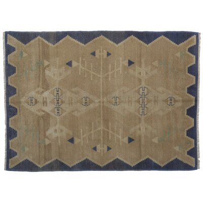 Arbor Glen Anatolia Faded Hand-Knotted Wool Brown/Blue Area Rug