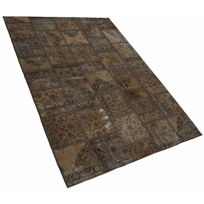 Karin Patchwork Hand-Knotted Wool Brown/Gray Area Rug