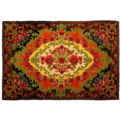 Katie Handmade Kilim Wool Red/Yellow/Green Area Rug