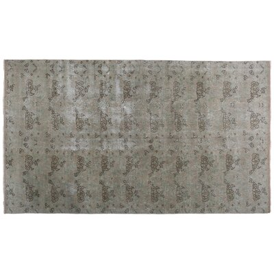 Katya Vintage Hand-Knotted Wool Gray Area Rug