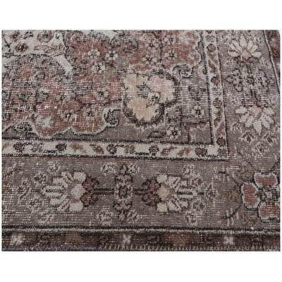 Hambrook Vintage Hand-Knotted Wool Gray/Brown Area Rug