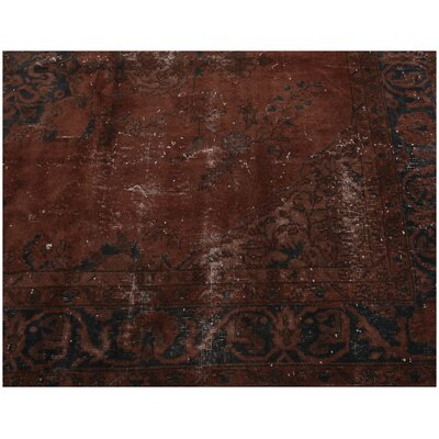 Kaye Vintage Hand-Knotted Wool Red Area Rug