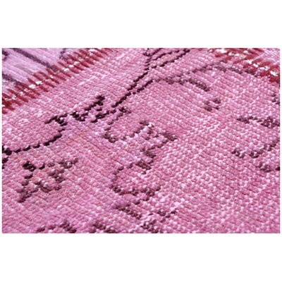 Kayla Patchwork Hand-Knotted Wool Pink Area Rug