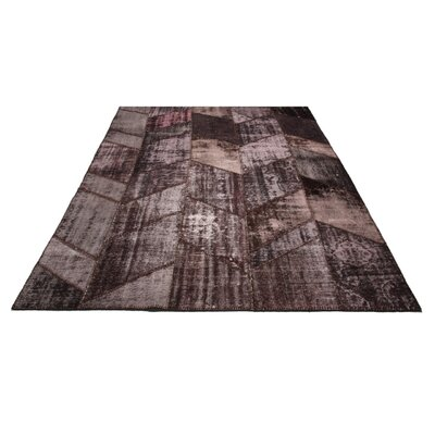 Kellie Patchwork Hand-Knotted Wool Maroon Area Rug