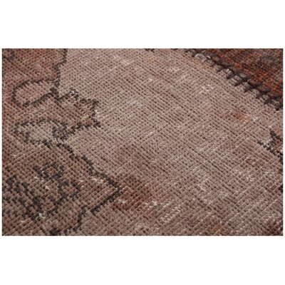 Kayla Patchwork Hand-Knotted Wool Gray/Brown Area Rug