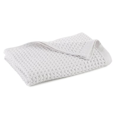 Clarity Flax Waffle Weave Bath Towel Color: White