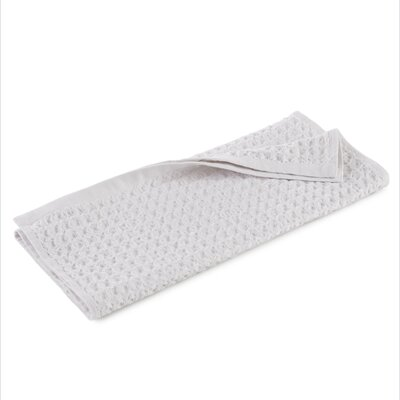 Clarity Flax Waffle Weave Hand Towel Color: White