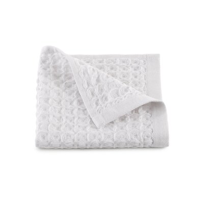 Clarity Flax Waffle Weave Wash Cloth Color: White