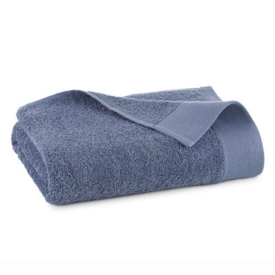 Marquette Terry Flax Bath Towel Color: Pacific Blue