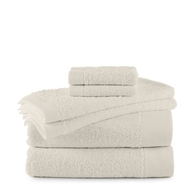 Marquette Terry Flax 6 Piece Towel Set Color: Ivory