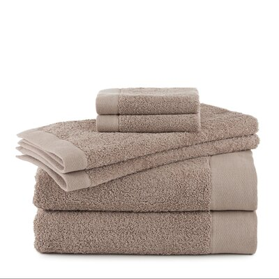 Marquette Terry Flax 6 Piece Towel Set Color: Linen