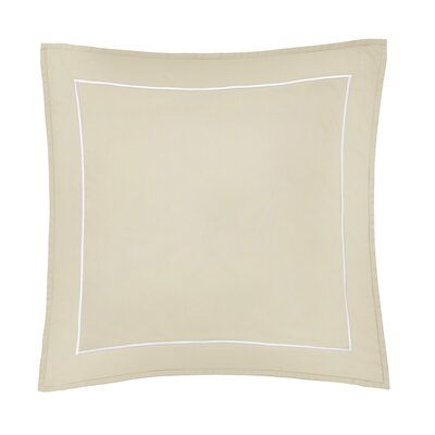 Beerman Satin Stitch Sham Size: Euro, Color: Natural/White