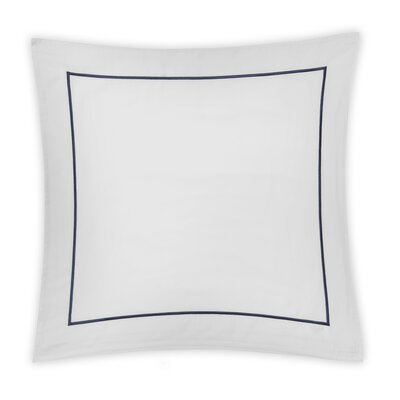 Beerman Satin Stitch Sham Size: Standard, Color: White/Indigo