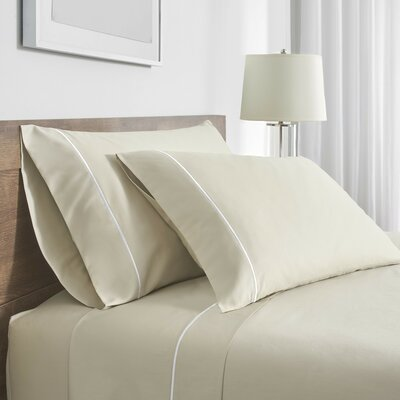 Beerman Satin Stitch Pillow case Size: Standard, Color: Natural/White