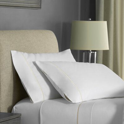 Beerman Satin Stitch Pillow case Size: King, Color: White/Ivory