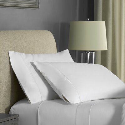 Beerman Stitch 300 Thread Count Satin Sheet Set Size: Queen, Color: White