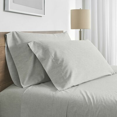 Balderston 200 Thread Count Pillowcase Color: Gray, Size: King