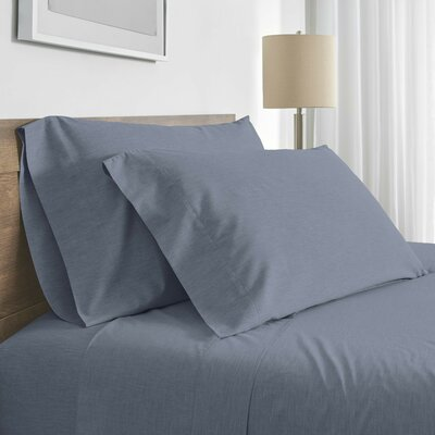 Balderston 200 Thread Count Pillowcase Color: Indigo, Size: King